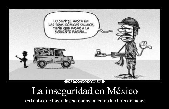 la inseguridad en mexico: