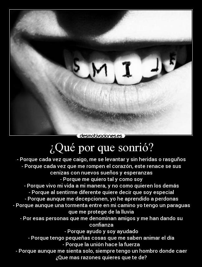 Qué Por Que Sonrió Desmotivaciones