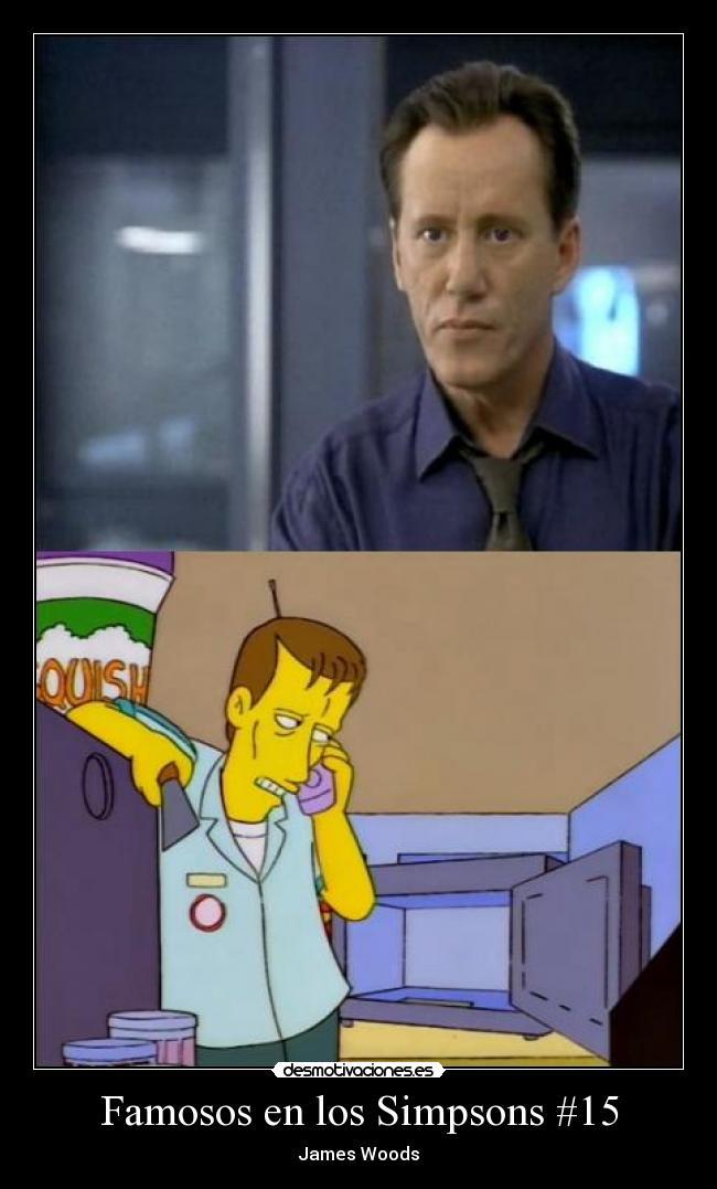 Famosos en los Simpsons #15 | Desmotivaciones James Woods Simpsons