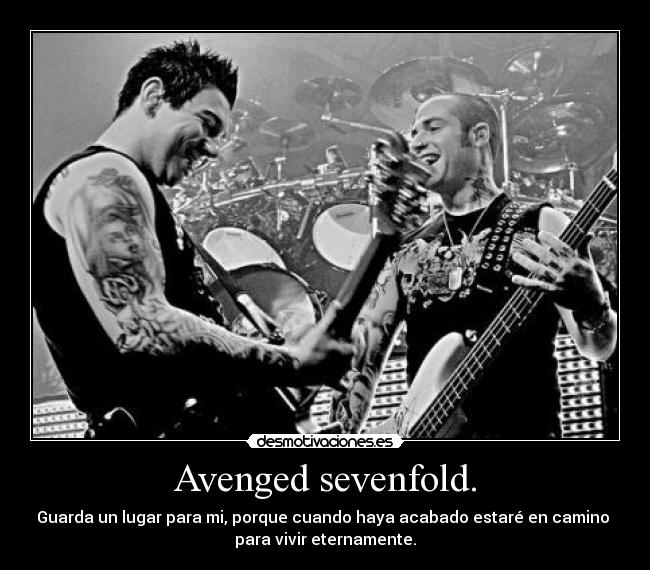 carteles desmoclan avenged sevenfold far away gran tema guarda lugar para desmotivaciones