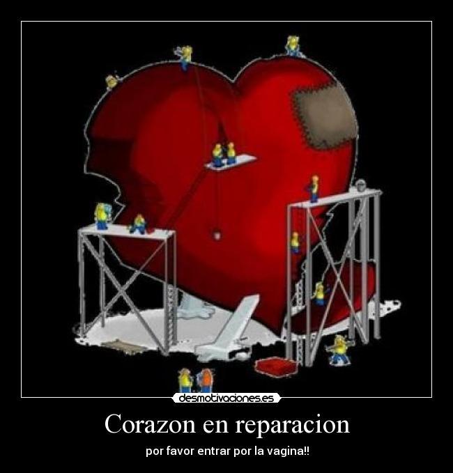 corazon en reparacion desmotivaciones