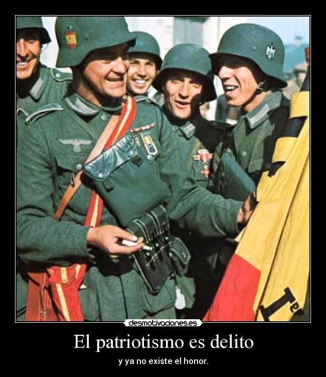 carteles patria honor division azul espana desmotivaciones