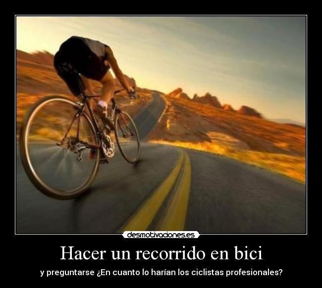 Le muestra la cola a un ciclista