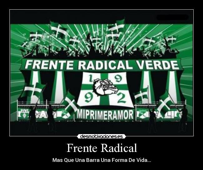 frente radical verdiblanco: