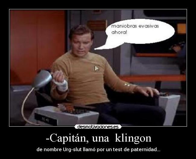 Capitán Una Klingon Desmotivaciones
