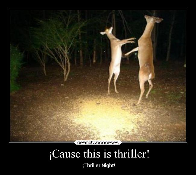¡Cause this is thriller! - ♪ ♫  ¡Thriller Night! ♪ ♫
