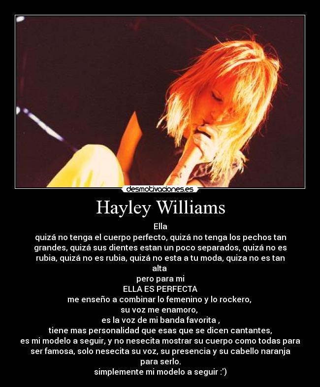 Motivaciones de Hayley Williams