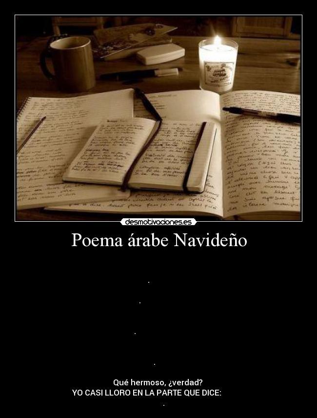Poema árabe Navideño Desmotivaciones