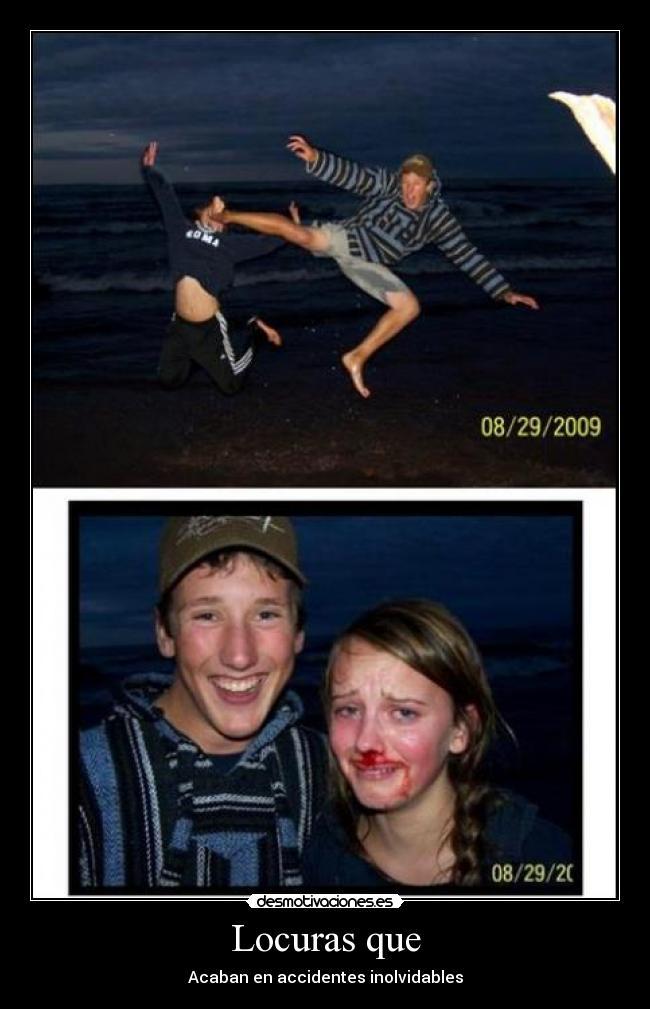 carteles locura amigo foto golpe mujer desmotivaciones