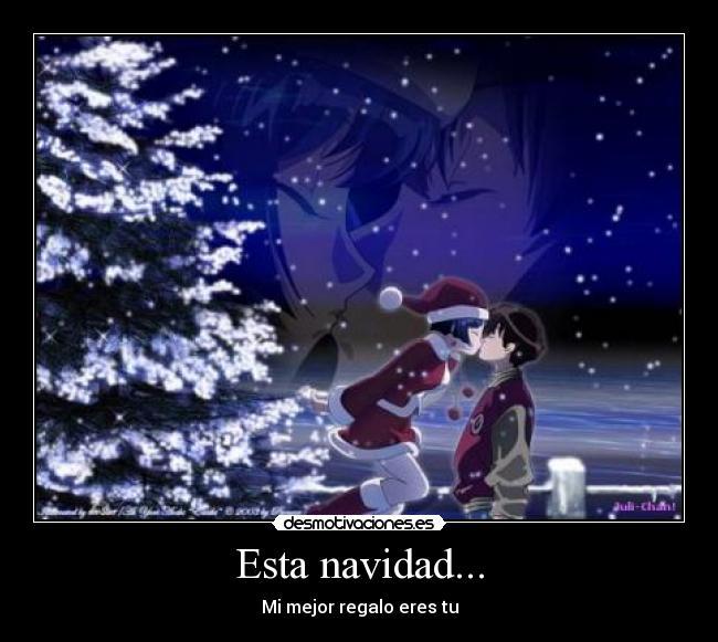 carteles navidad navidad amor anime