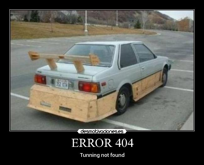 ERROR 404 - Tunning not found