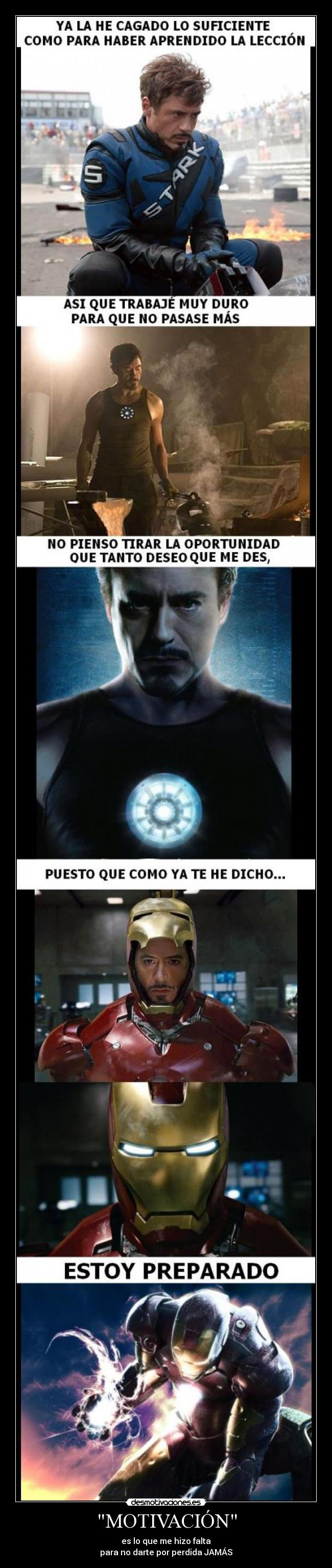 carteles ironman its always with you desmotivaciones
