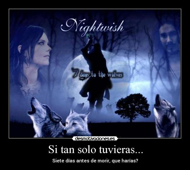carteles nightwish days the wolves desmotivaciones