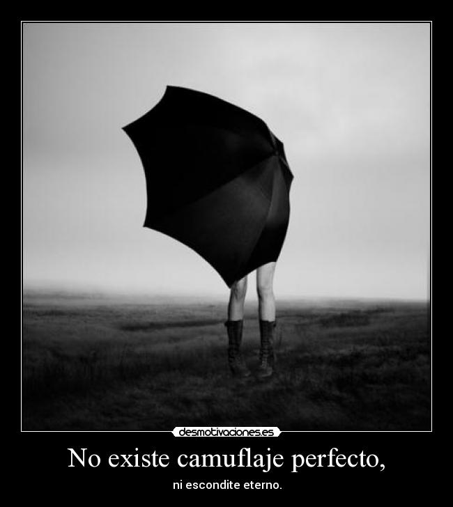 No existe camuflaje perfecto, - ni escondite eterno.
