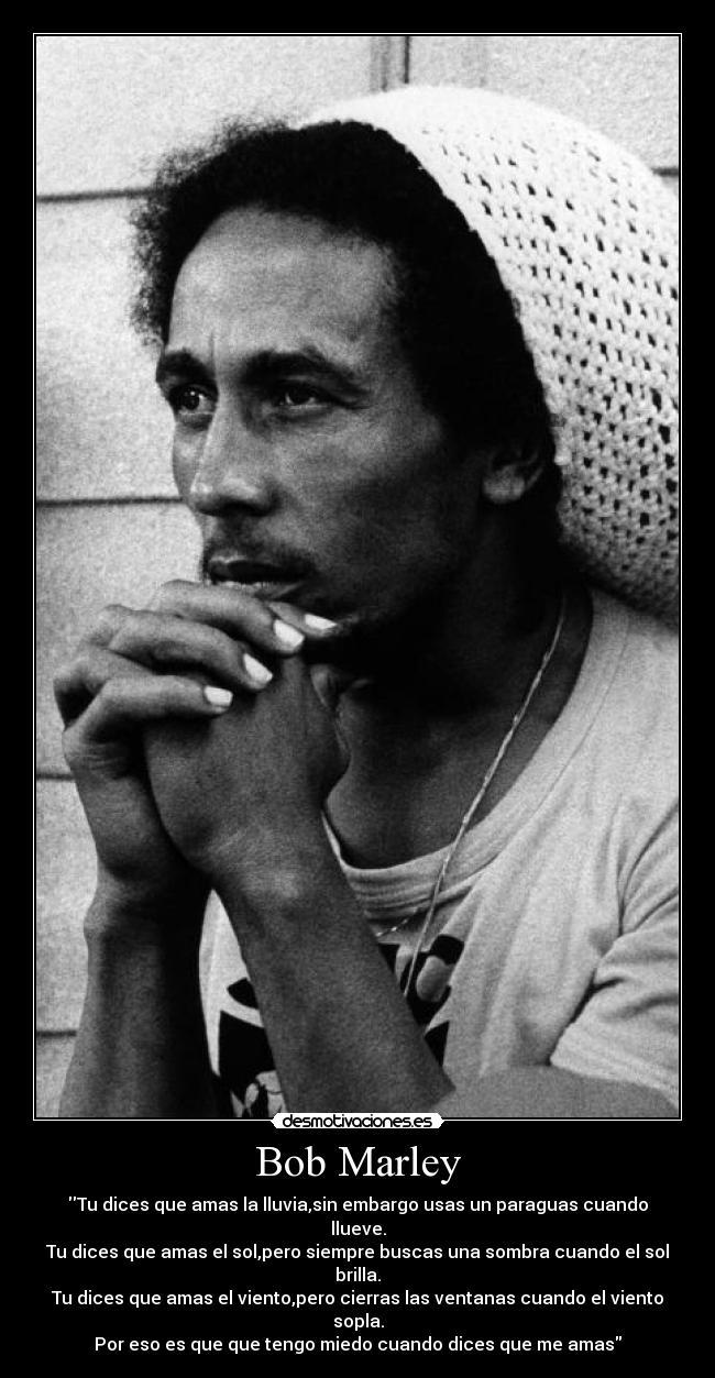 Carteles Bob Marley Amor Desmotivaciones