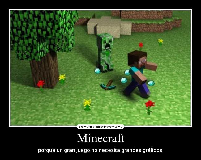 carteles minecraft juego pixel graficos creeper desmotivaciones