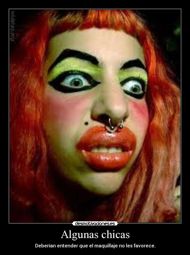 carteles maquillaje siempre favorece desmotivaciones