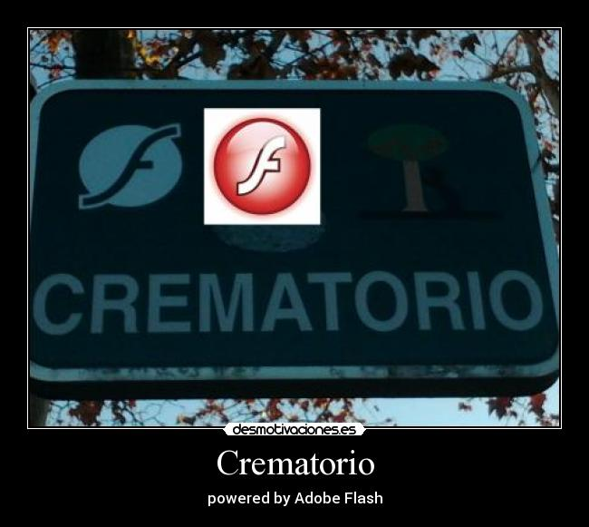 Crematorio - powered by Adobe Flash