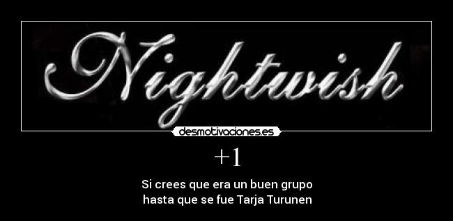 carteles nightwish desmotivaciones