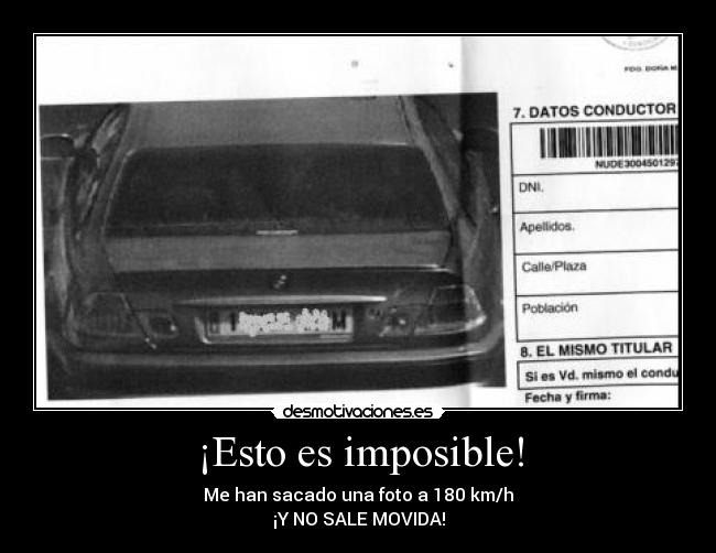 ¡Esto es imposible! - Me han sacado una foto a 180 km/h ¡Y NO SALE MOVIDA!