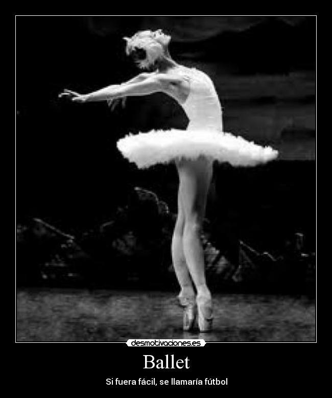 carteles ballet futbol puntas blanco negro baile clasico musica baile clasico compas tutu maiot desmotivaciones