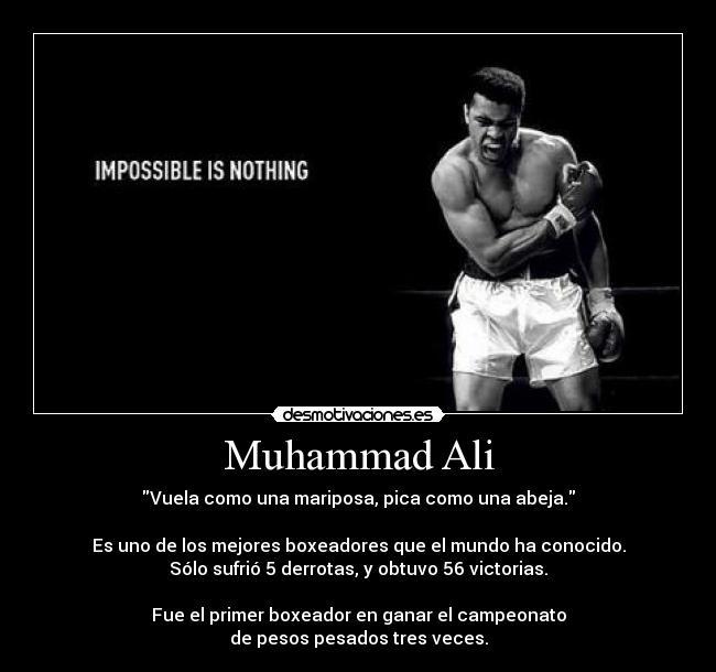 Muhammad Ali Desmotivaciones