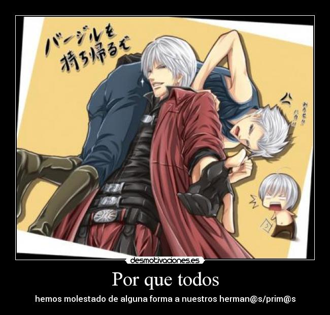 carteles dante vergil devil may cry desmotivaciones