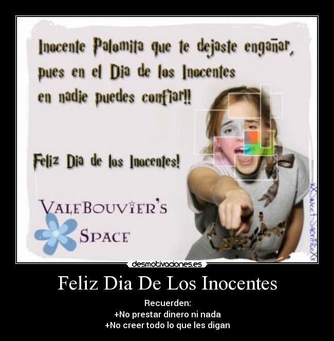 Feliz Dia De Los Inocentes Desmotivaciones