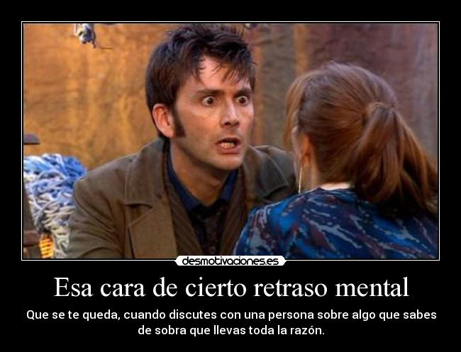 carteles clantimelord doctorwho doctor tennant whovian timelord donna noble meo con cara desmotivaciones