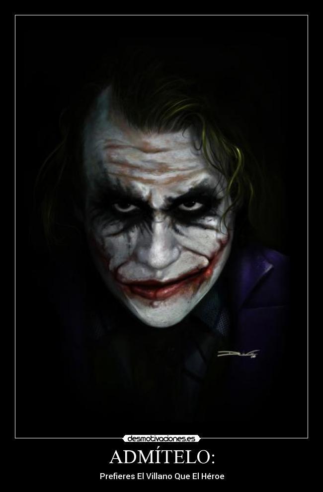 carteles heroe guason jokey batman mejor dios desmotivaciones