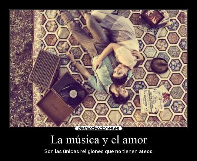 carteles musica amor musica amor desmotivaciones