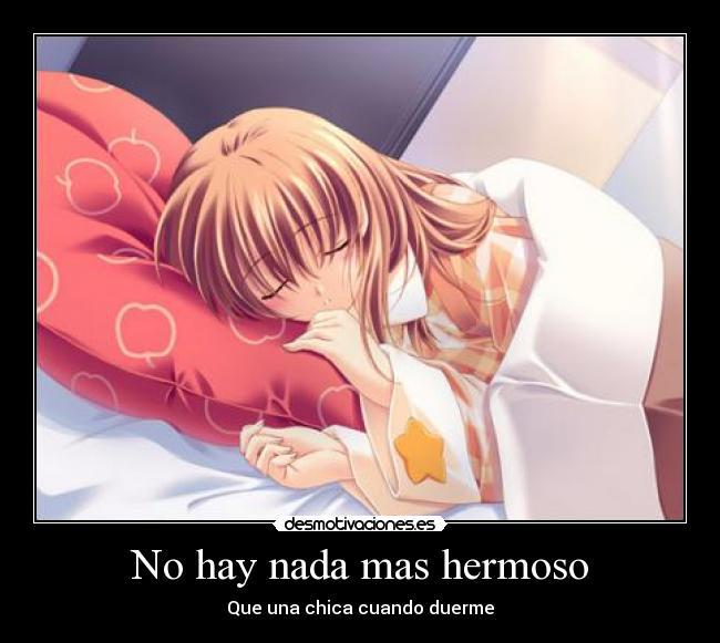 carteles dormida nina chica mujer hermosa durmiendo anime amor ...