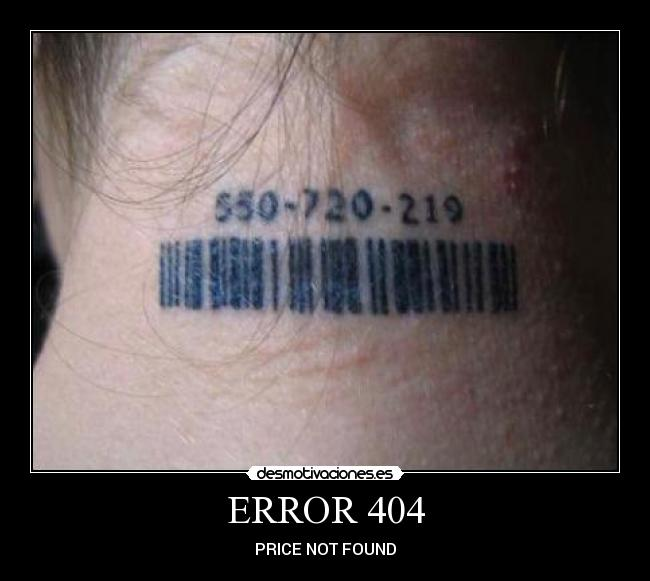 ERROR 404 - PRICE NOT FOUND