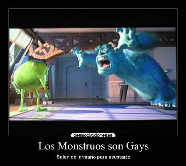 carteles monstruos gays desmotivaciones