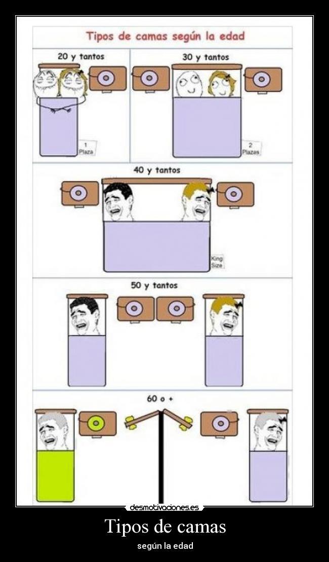 Tipos de camas desmotivaciones for Tipos de cama
