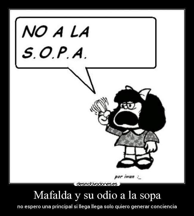 Mafalda Y Su Odio A La Sopa Desmotivaciones