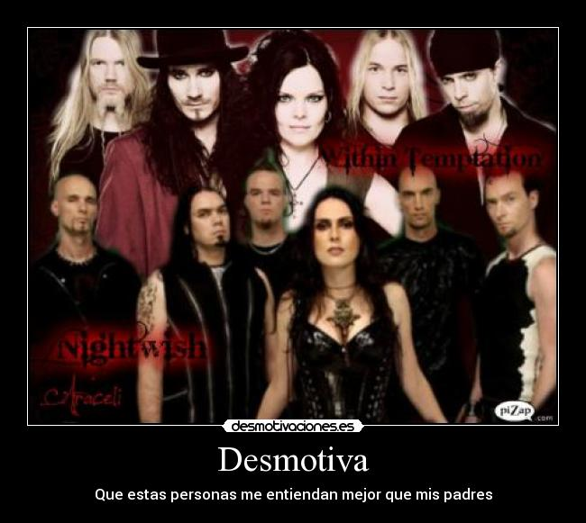 carteles padres nightwish within temptation desmotivaciones