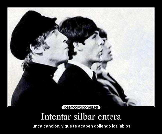 carteles cancion the beatles thebeatles desmotivaciones