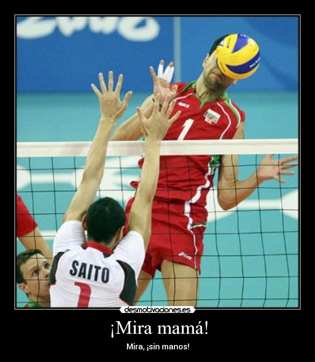 carteles voleibol fail manos pelota saito mama etiquetasconsentido desmotivaciones