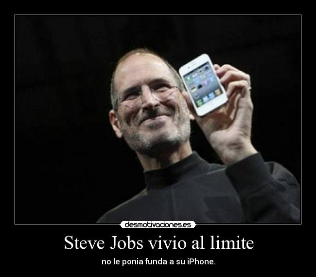 carteles steve jobs funda iphone desmotivaciones