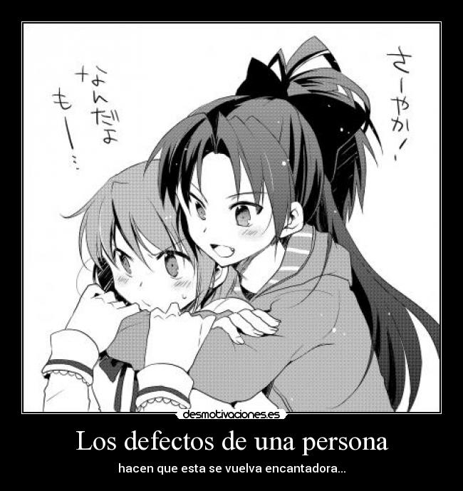 defectos persona: