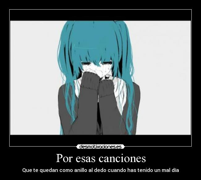 carteles amor otaku vocaloid miku hatsune when love ends for the first time anime desmotivaciones