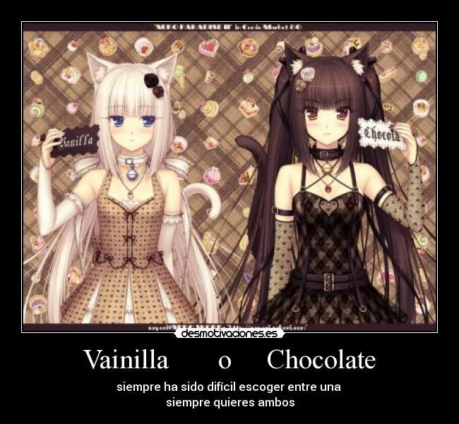 Sexo de chocolate y vainilla