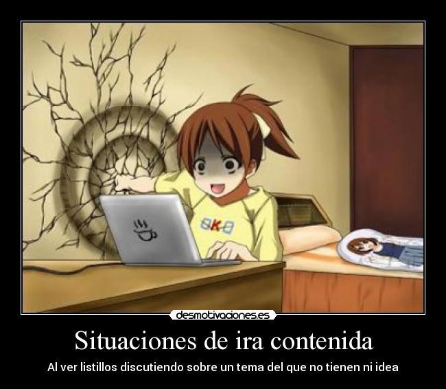 carteles por ejemplo los antiotakus discutiendo sobre anime happy psycho happy desmotivaciones