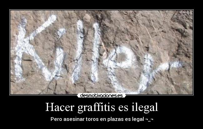 graffitis ilegal: