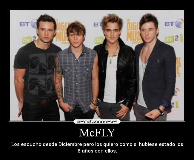 carteles mcfly tom fletcher danny jones dougie poynter harry judd desmotivaciones