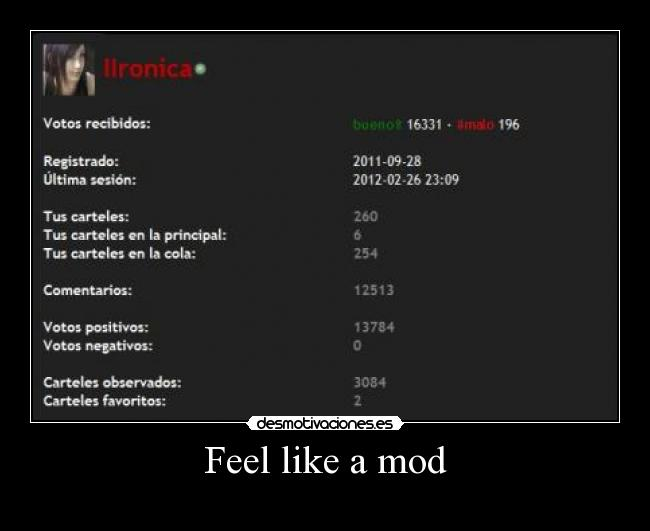 Feel like a mod -