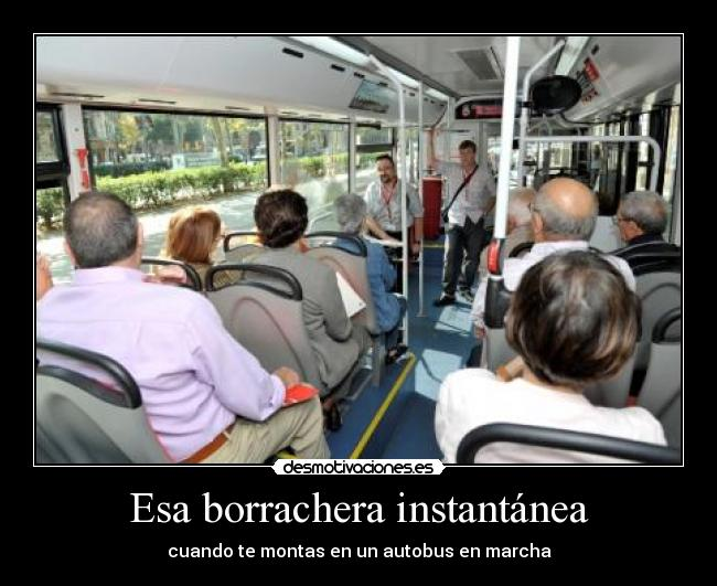 carteles bus borrachera desmotivaciones