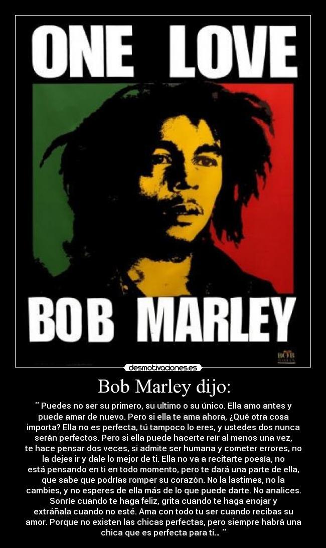 Carteles Amor Bob Marley Desmotivaciones