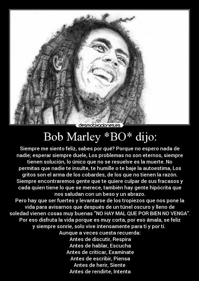 Bob Marley Bo Dijo Desmotivaciones